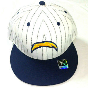San Diego Chargers Fitted Cap Hat Vintage Bolt 7 5